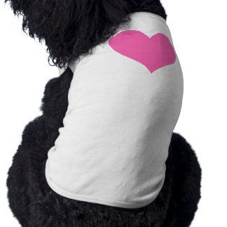 Coeur mignon de roses indien t-shirt pour chien