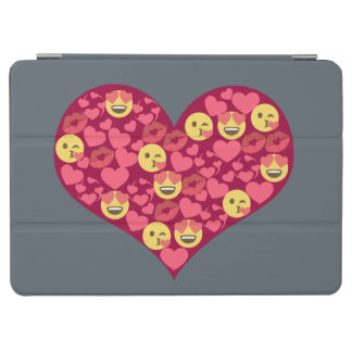 Coeur mignon d'Emoji de lèvres de baiser d'amour Protection iPad Air