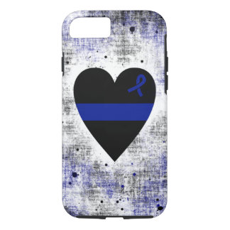 Coeur mince de Blue Line Coque iPhone 7