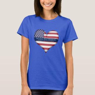 Coeur mince fait sur commande de Blue Line T-shirt
