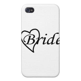Coeur noir de jeune mariée coque iPhone 4/4S