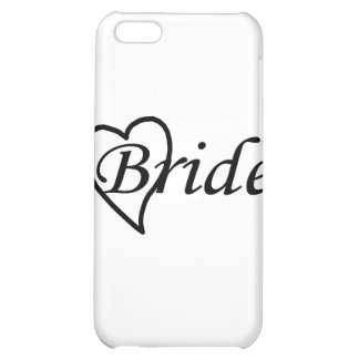 Coeur noir de jeune mariée coque pour iPhone 5C