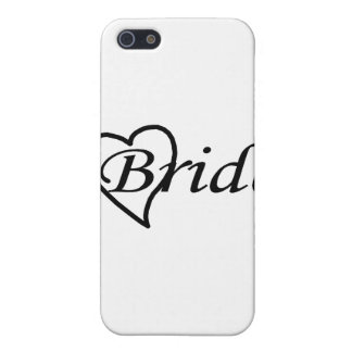 Coeur noir de jeune mariée étuis iPhone 5