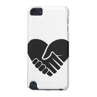 Coeur noir relié par amour coque iPod touch 5G