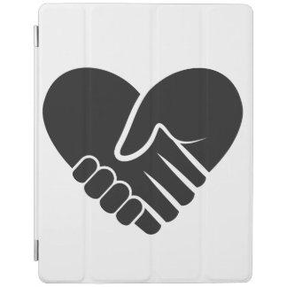 Coeur noir relié par amour protection iPad