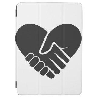 Coeur noir relié par amour protection iPad air