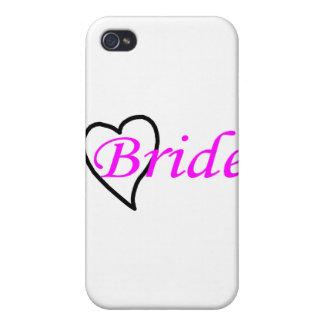 Coeur noir rose de jeune mariée coque iPhone 4/4S