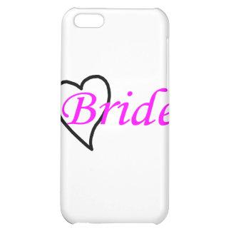 Coeur noir rose de jeune mariée coque iPhone 5C