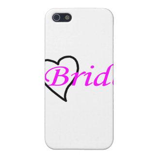 Coeur noir rose de jeune mariée iPhone 5 case