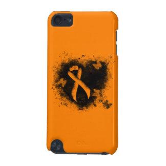 Coeur orange de grunge de ruban coque iPod touch 5G