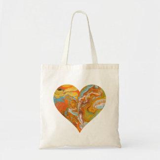 Coeur orange Fourre-tout de achat de sifflement Sacs De Toile