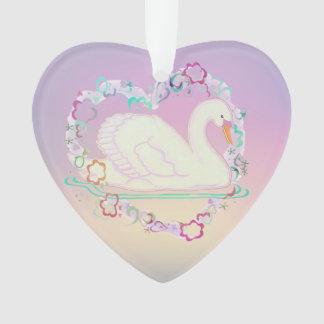 Coeur-ornement de princesse de cygne
