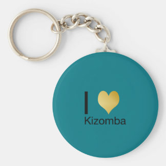 Coeur par espièglerie élégant Kizomba d'I Porte-clé Rond