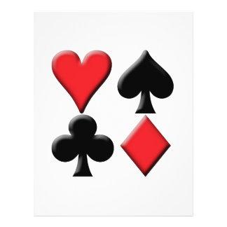 Coeur, pelle, club et diamant prospectus 21,6 cm x 24,94 cm