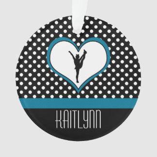 Coeur Polka-Pointillé par acclamation dans le bleu