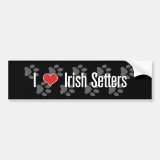 (Coeur) poseurs I irlandais Autocollant Pour Voiture