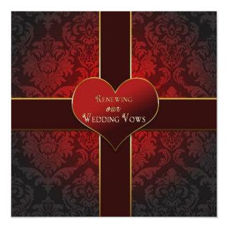 Coeur/présent - renouvellement d'invitation de carton d'invitation  13,33 cm