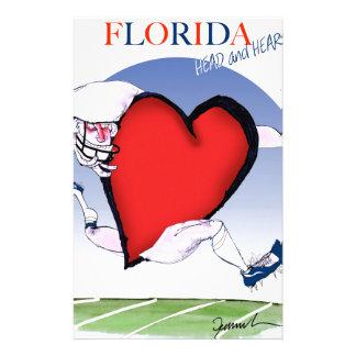 coeur principal de la Floride, fernandes élégants Motifs Pour Papier À Lettre