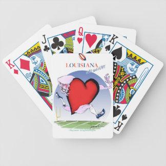 coeur principal de la Louisiane, fernandes Cartes À Jouer