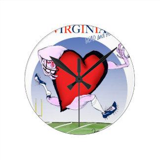 Coeur principal de la Virginie, fernandes élégants Horloge Ronde