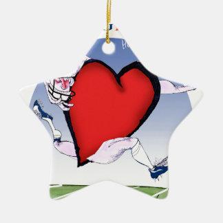 Coeur principal de la Virginie, fernandes élégants Ornement Étoile En Céramique