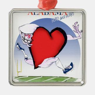 coeur principal de l'Alabama, fernandes élégants Ornement Carré Argenté