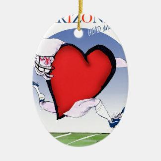 coeur principal de l'Arizona, fernandes élégants Ornement Ovale En Céramique