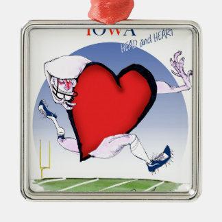 coeur principal de l'Iowa, fernandes élégants Ornement Carré Argenté