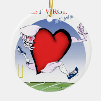 coeur principal de W la Virginie, fernandes Ornement Rond En Céramique