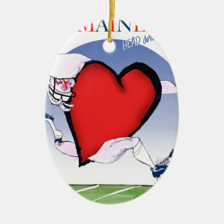 coeur principal du Maine, fernandes élégants Ornement Ovale En Céramique
