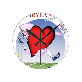 coeur principal du Maryland, fernandes élégants Horloge Ronde