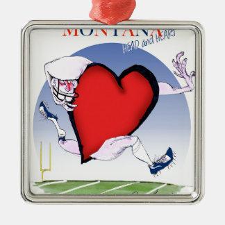 coeur principal du Montana, fernandes élégants Ornement Carré Argenté