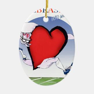 coeur principal du Nébraska, fernandes élégants Ornement Ovale En Céramique