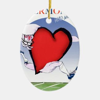Coeur principal du Vermont, fernandes élégants Ornement Ovale En Céramique