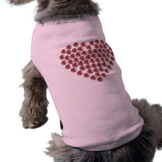 Coeur rempli par fausse pierre imprimé t-shirt pour chien