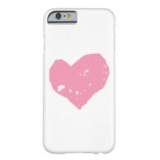 Cœur rose, coque iPhone 6