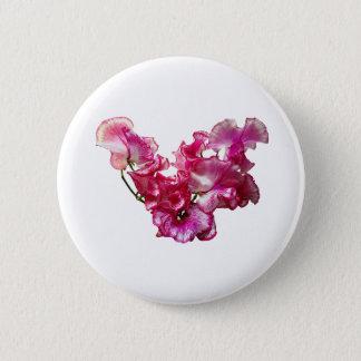 Coeur rose de pois doux badge