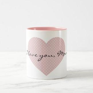Coeur rose de pois mugs