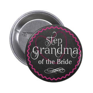 Coeur rose de tableau épousant la jeune mariée de badges