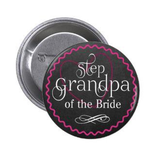 Coeur rose de tableau épousant la jeune mariée de pin's