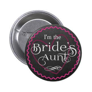 Coeur rose de tableau épousant la tante de la badges