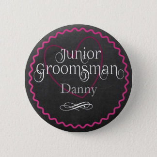 Coeur rose de tableau épousant le junior Groomsman Badges