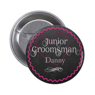 Coeur rose de tableau épousant le junior Groomsman Badges