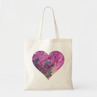 Coeur rose Fourre-tout de achat de sifflement Sac En Toile