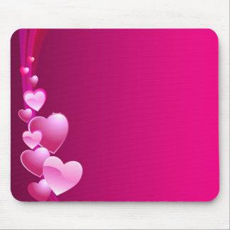 coeur rose tapis de souris