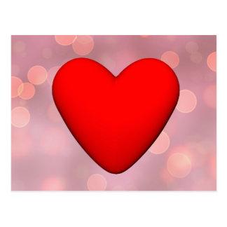 Coeur rouge - 3D rendent Cartes Postales