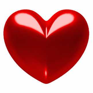 Coeur - rouge badge photo sculpture
