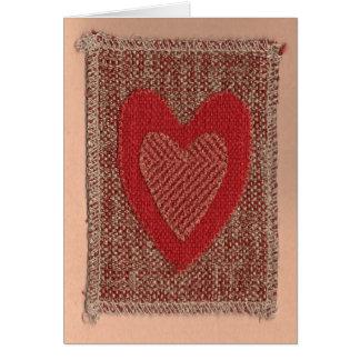 Coeur rouge carte de vœux