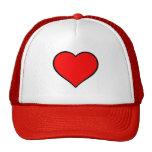 Coeur rouge casquettes de camionneur