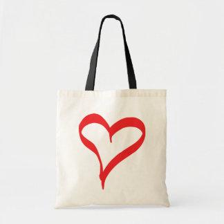 Coeur rouge d'amour - épouser la douche nuptiale sac de toile